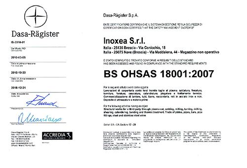 Certificazione-BS-OHSAS-18001-20151 INOXEA